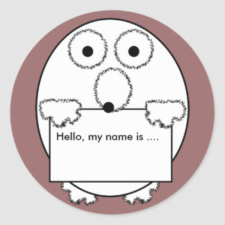 Hello my name is ice breaker event Sticker