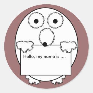 Hello my name is ice breaker event Sticker