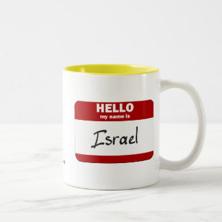 Hello My Name Is Israel (Red) Mugs