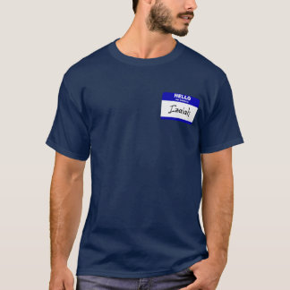 Hello My Name Is Izaiah (Blue) T-Shirt