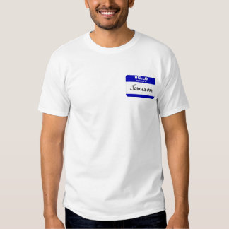 Hello My Name Is Jameson (Blue) T-shirt
