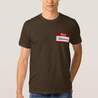 Hello My Name Is Jameson (Red) Tee Shirt