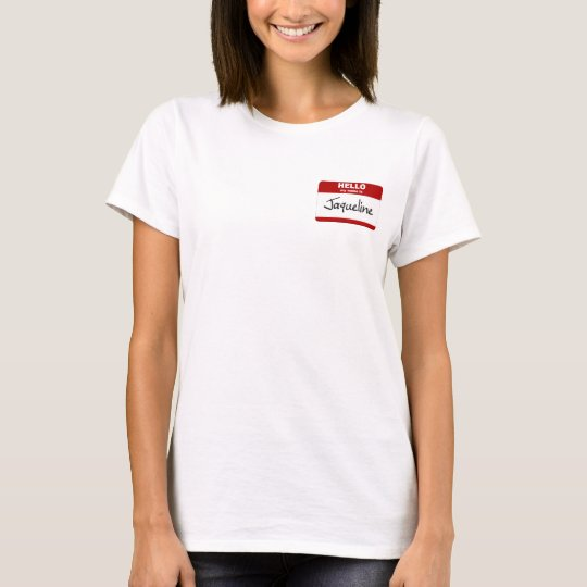 Hello My Name Is Jaqueline (Red) T-Shirt