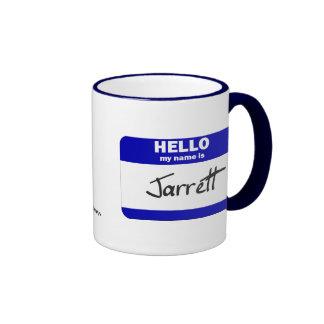 Hello My Name Is Jarrett (Blue) Ringer Mug