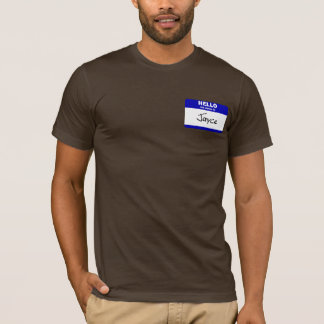 Hello My Name Is Jayce (Blue) T-Shirt