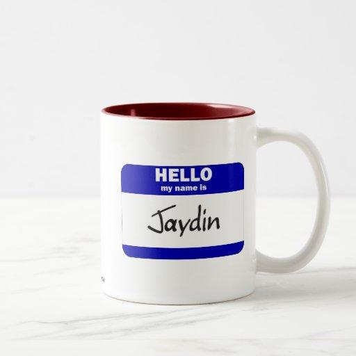 Hello My Name Is Jaydin (Blue) Coffee Mug