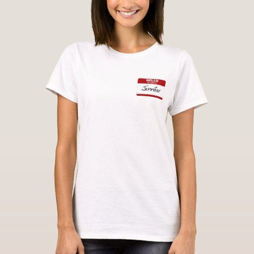 Hello My Name Is Jennifer (Red) T-Shirt