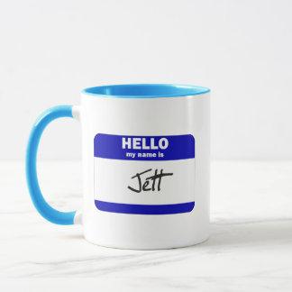 Hello My Name Is Jett (Blue) Mug