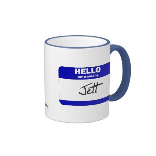 Hello My Name Is Jett (Blue) Mugs
