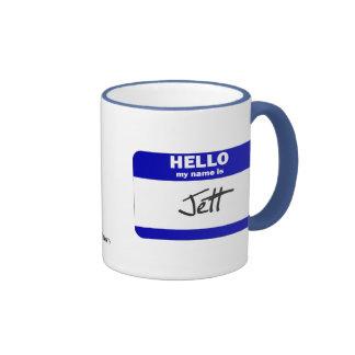 Hello My Name Is Jett (Blue) Ringer Mug