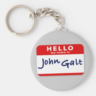 Hello My Name is John Galt Basic Round Button Keychain
