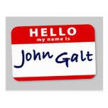 Hello My Name is John Galt Postcards