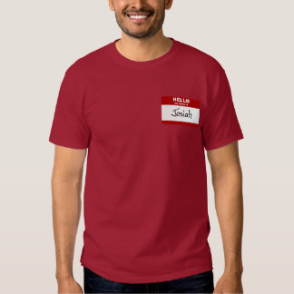 Hello My Name Is Josiah (Red) T-Shirt