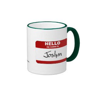 Hello My Name Is Joslyn (Red) Ringer Mug