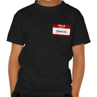 Hello My Name Is Kamron (Red) T-shirts