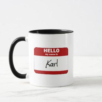 Hello My Name Is Karl (Red) Mug