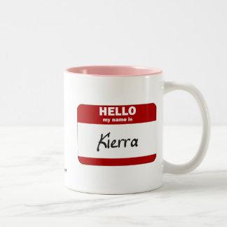 Hello My Name Is Kierra (Red) Two-Tone Coffee Mug