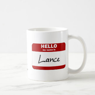 Hello My Name Is Lance (Red) Classic White Coffee Mug