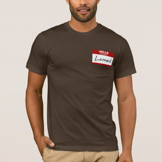 Hello My Name Is Leonard (Red) T-Shirt