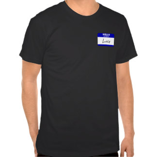 Hello My Name Is Lucy (Blue) Tee Shirts