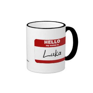 Hello My Name Is Luka (Red) Mugs