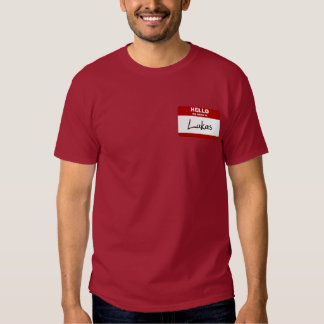 Hello My Name Is Lukas (Red) T-shirt