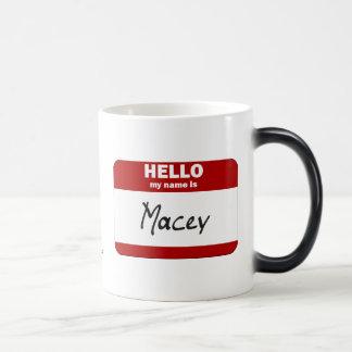 Hello My Name Is Macey (Red) 11 Oz Magic Heat Color-Changing Coffee Mug
