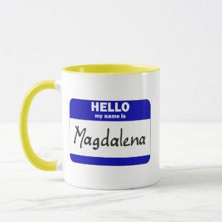 Hello My Name Is Magdalena (Blue) Mug