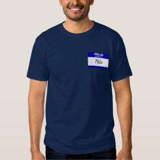 Hello My Name Is Melo (Blue) T Shirt