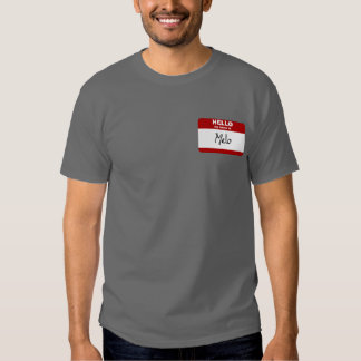 Hello My Name Is Melo (Red) T Shirt