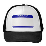 Hello, My name is... Mesh Hat