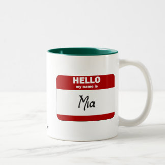 Hello My Name Is Mia (Red) Coffee Mugs