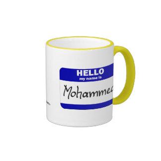 Hello My Name Is Mohammed (Blue) Ringer Coffee Mug