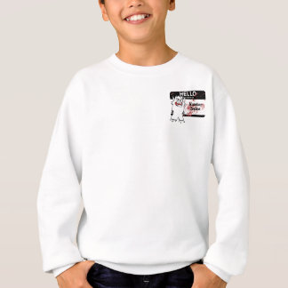 Hello My Name Is Monster Brains Kids Sweatshirt