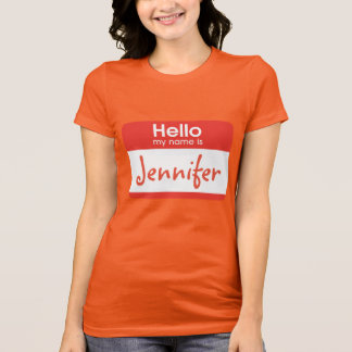 Hello My Name Is Name Tag Tshirt