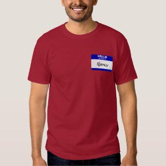 Hello My Name Is Nancy (Blue) T-Shirt