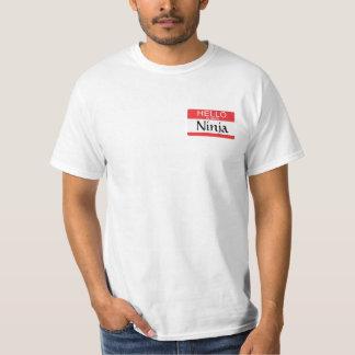 Hello My Name Is Ninja Name Tag T-Shirt