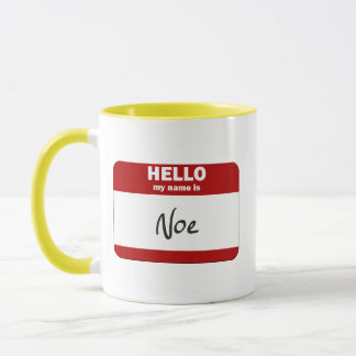 Hello My Name Is Noe (Red) Mug