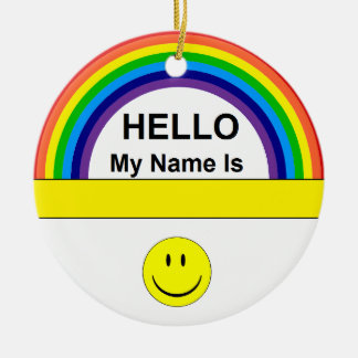 Hello My Name is . . . Ornament