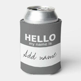 Hello my name is - personalized can cooler