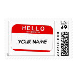 Hello My Name is Postage Stamp