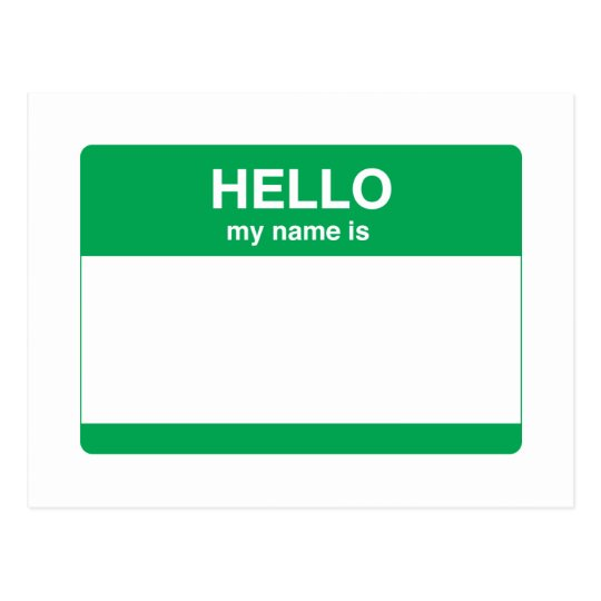 Hello, My Name is Postcard