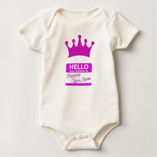 Hello My Name is Princess Baby Bodysuit