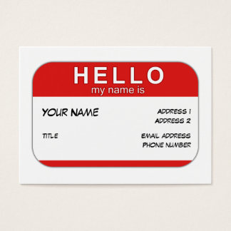 Hello My Name is Profile Card