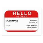 Hello My Name is Profile Card Business Card Template