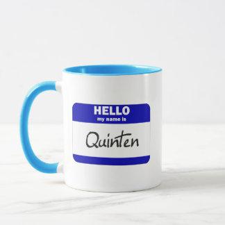 Hello My Name Is Quinten (Blue) Mug