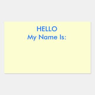 HELLO My Name Is: Rectangular Sticker