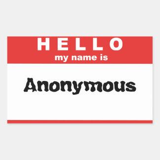 Hello My Name Is Rectangular Sticker
