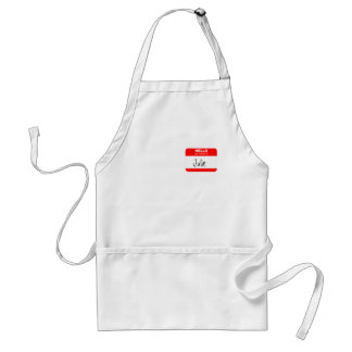 Hello, My Name is ... (red) Adult Apron