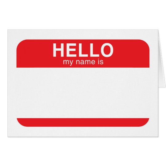 Hello My Name Is - Red Card